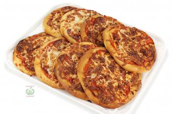"""Мини пицца """"Салями"""" с помидором,сыром и томатным соусом"""