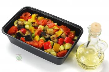 Салат из печёных овощей с зеленью