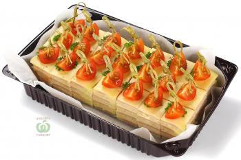Канапе - Слоёное канапе из ветчины и сыра