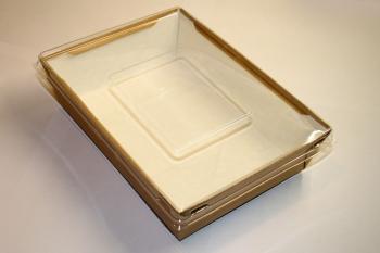 Салатник с прозрачной крышкой 1000 мл.