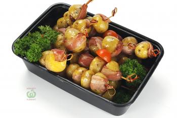 Картофель Черри в беконе жаренный