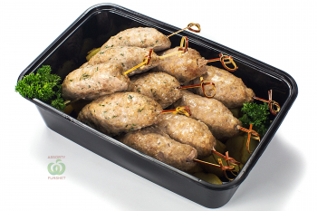 Ассорти люля кебаб курица и свинина с картофелем