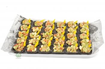 Тарталетки с салатом Мавританский